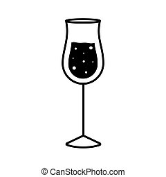 grappa cocktail glass cup silhouette style icon design, Alcohol drink bar and beverage theme Vector illustration