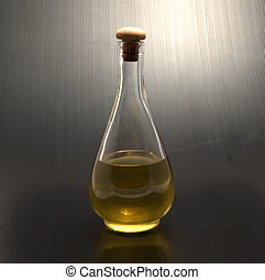 Grappa - Solitary bottle of Italian alcoholic beverage