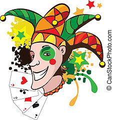 grappenmaker, het glimlachen, kaarten