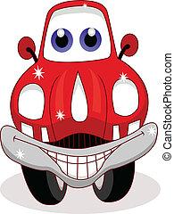 grappige auto, spotprent
