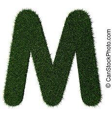 gras, alphabet-m
