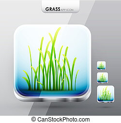 gras, app, heiligenbilder