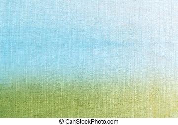 gras, en, hemel, textured, achtergrond