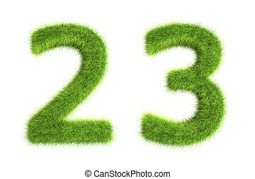gras, getallen