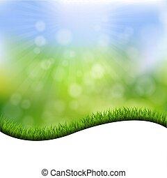 gras, grens, achtergrond, natuur
