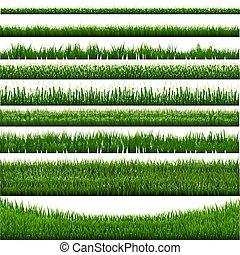 gras, grens, verzameling