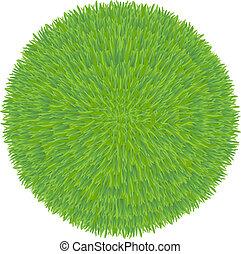 gras, groene bal