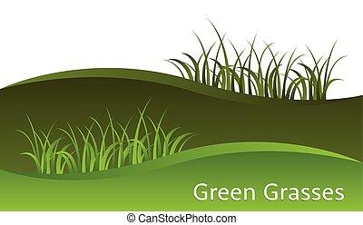 gras, groene