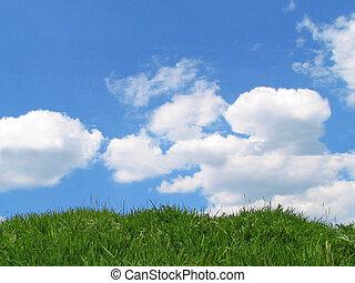 gras, hemel