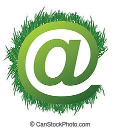 gras, ontwerp, illustratie, meldingsbord