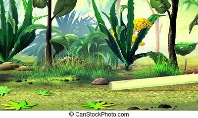 gras, trekken, mier, stengel