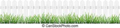 gras, vrijstaand, omheining