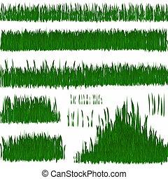 gras, witte , vrijstaand, groene