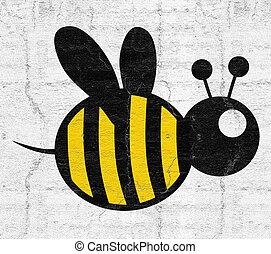 grasa, abeja