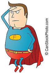 grasa, super héroe, patrulla