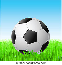 grass., サッカーボール