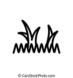 grass and bluegrass icon vector. grass and bluegrass sign. isolated contour symbol illustration