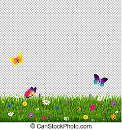 Grass And Flowers Transparent Background