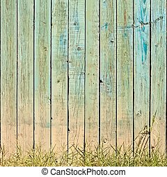 Grass And Planks Background