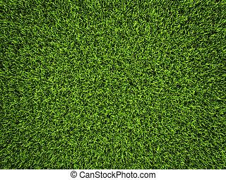 Grass background, fresh green soccer turf, 3d render