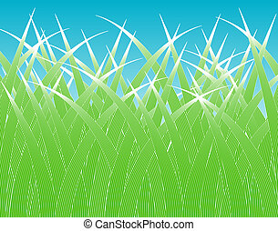 Grass blades - Design of stylized grass blades