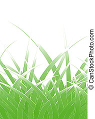 Grass blades - Editable vector design of stylized grass...