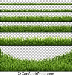 Grass Border Set Isolated