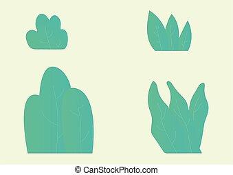 Grass Collection Modern Conceptual Design Illustration Vector