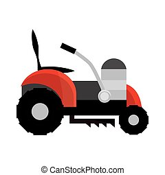 grass cut machine icon isolated on white background