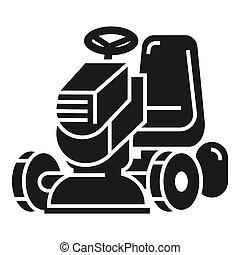 Grass cut machine icon, simple style