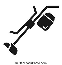 Grass cut trimmer icon, simple style