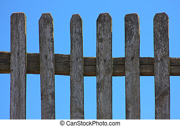 grass fence and sky landscape