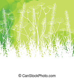 Grass green vector abstract background