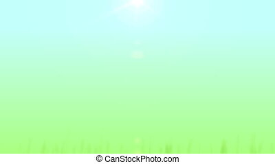 Grass Growing Background (30fps) - Artificial and stylized...