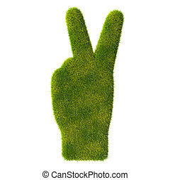 Grass hand icon. Two fingers