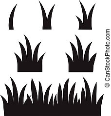 grass icon on white background. flat style. black grass silhouettes icon for your web site design, logo, app, UI. black grass symbol. set of grass sign.