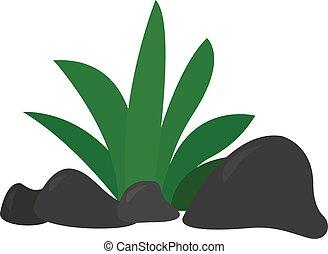 Grass, illustration, vector on white background.