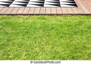 Grass in garden