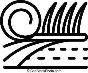 Grass landscape designer icon, outline style