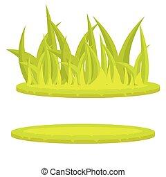 Grass lawn green cartoon vector clip art. Isolated grass...