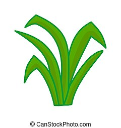 Grass leaves vector Cartoon illustration Design Graphic