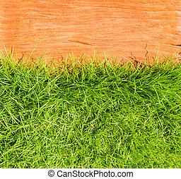 grass on stone floor background