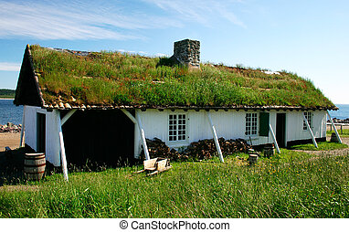 Grass on the Roof - This is a reconstructed 18th century...