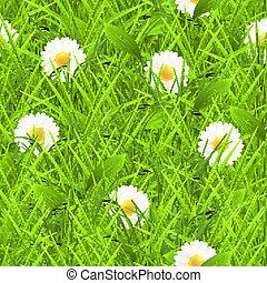 Grass seamless pattern, vecto