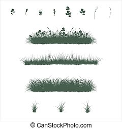 grass set in flat colors