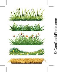Grass set of vector elements