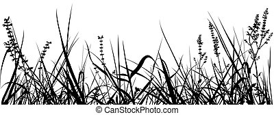 Grass Silhouette 02 - detailed illustration