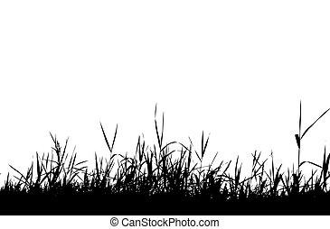 Grass silhouette black