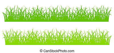 Design element - silhouette of cartoon green grass. EPS10 vector.