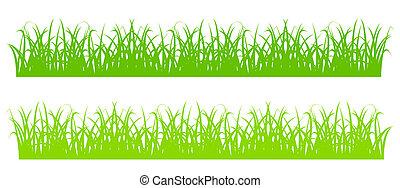 Grass Silhouette - Design element - silhouette of cartoon...
